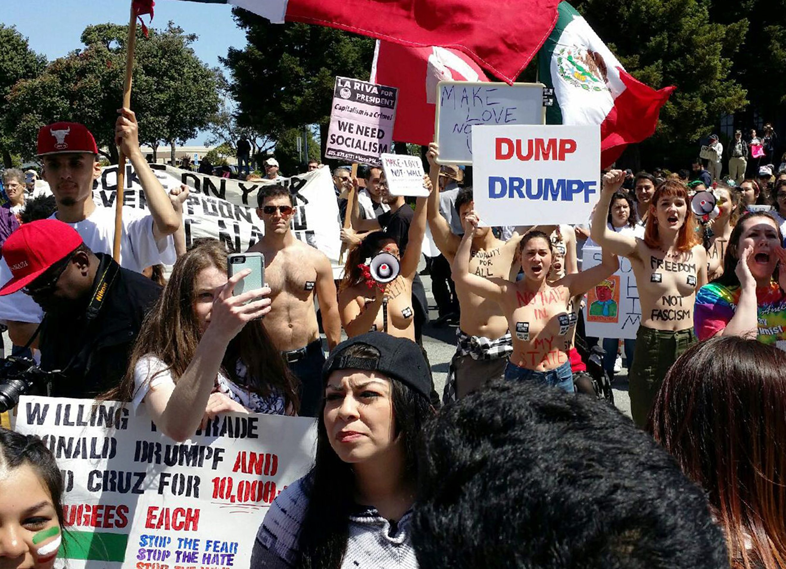 UPDATE: Five arrested in anti-Trump protest at GOP convention in Burlingame
