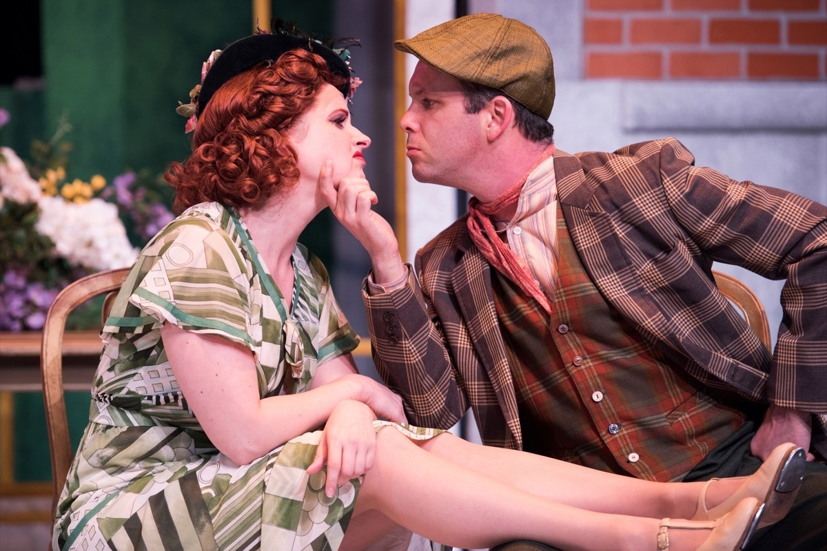 "Melissa WolfKlain and Keith Pinto are charming in ""Me and My Girl."" (Courtesy Ben Krantz Studio)"