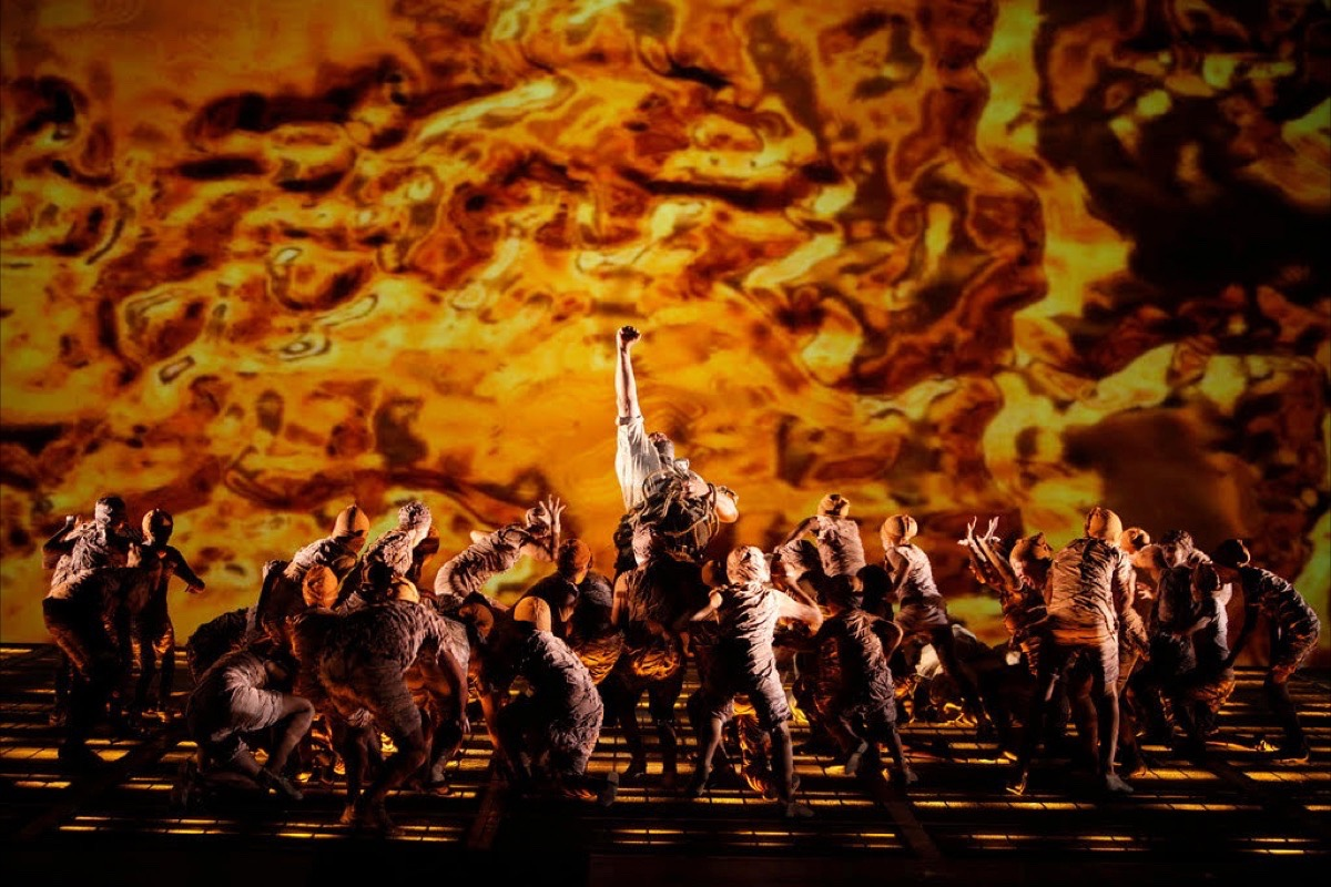 """San Francisco Opera's revival of Wagner's """"Ring"""" begins with technological advances in Das Rheingold,"""" the first work in the cycle. (Courtesy Cory Weaver/San Francisco Opera)"""