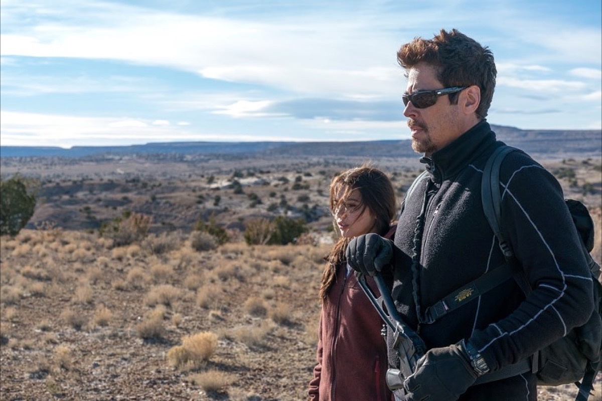 """Isabela Moner and Benicio Del Toro appear in the engaging crime sequel """"Sicario: Day of the Soldado."""" (Courtesy Richard Foreman Jr./Sony Pictures)"""