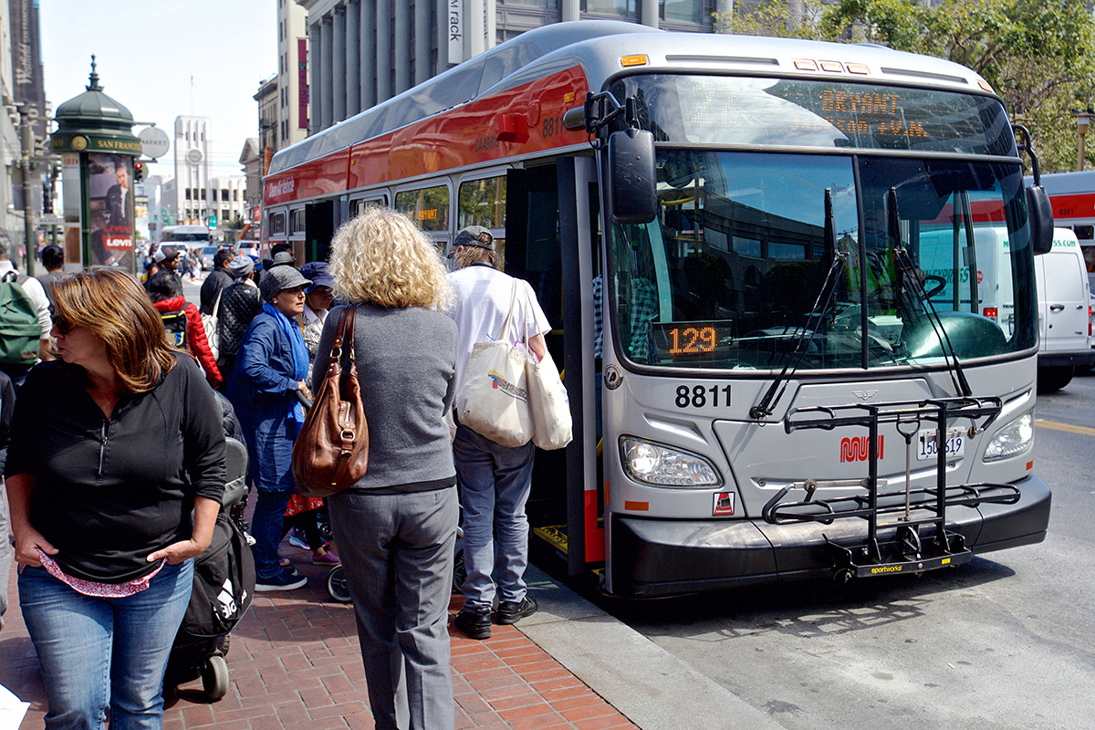 Muni riders experienced citywide delays over the summer. (Kevin N. Hume/S.F. Examiner)