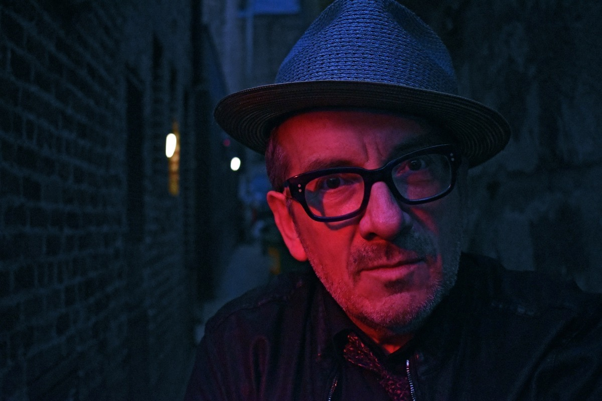 "Elvis Costello -- who has a great new album after saying he wouldn't record anymore -- brings his ""Look Now and Then"" tour to The City on Dec. 1. (Courtesy Stephen Done)"