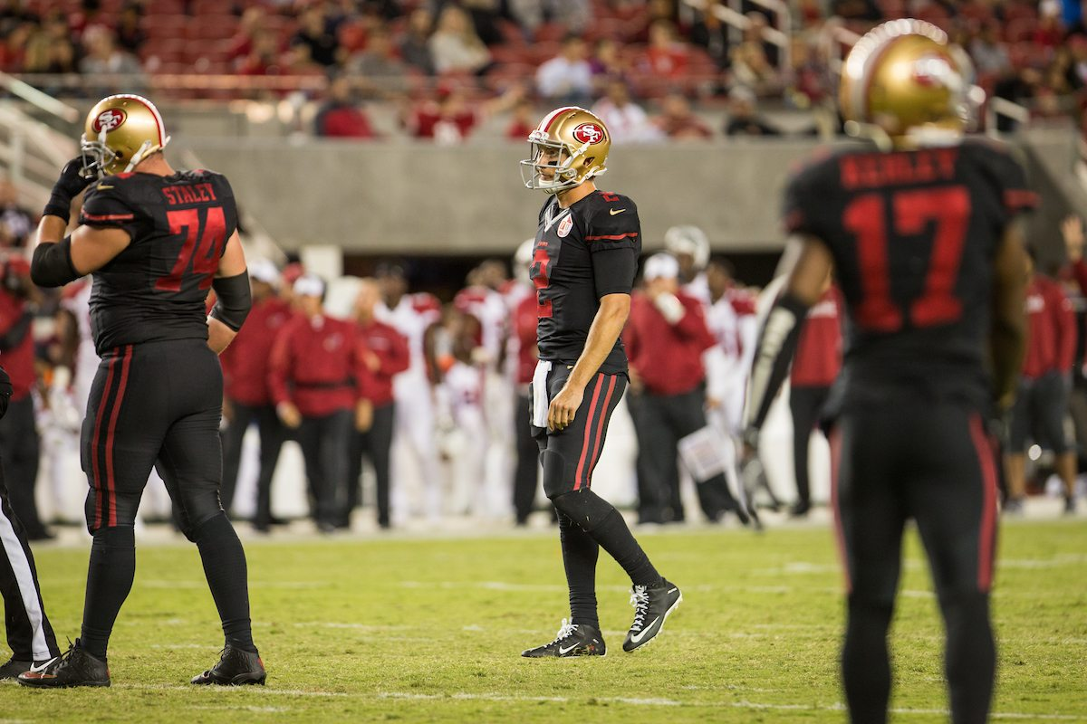 Colin Kaepernick has been making national headlines all season long. Now he'll have a chance to make a difference on the field as he replaces Blaine Gabbert (pictured). (Stan Olszewski/Special to S.F. Examiner)