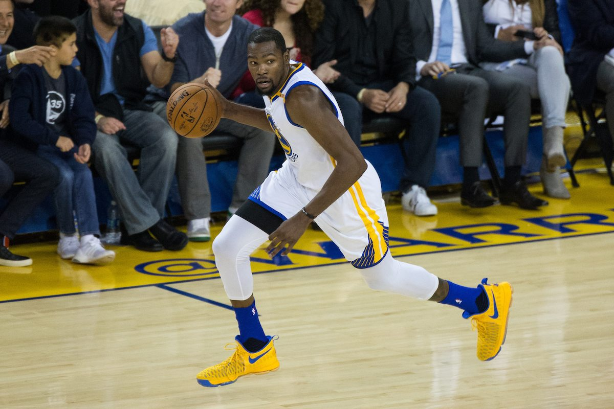 Kevin Durant, seen here on November 3, is proving why he's one of the best scorers of his generation. (Stan Olszewski/Special to S.F. Examiner)