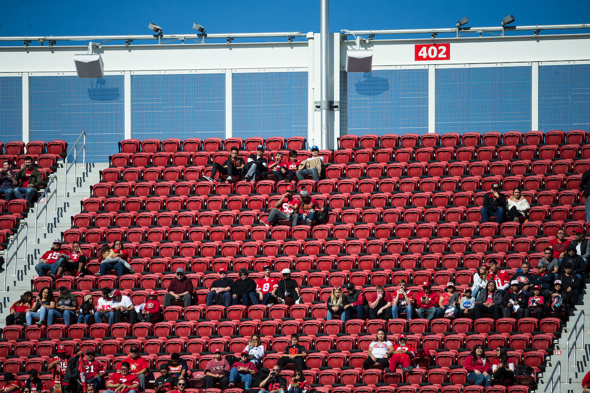 Attendance at 49ers games, ratings in the NFL and participation in high school are all down. Football has never been weaker in America. (Stan Olszewski/Special to S.F. Examiner)