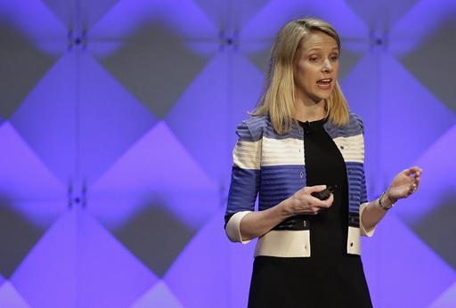 In this Feb. 18, 2016, file photo, Yahoo CEO Marissa Mayer delivers the keynote address at the Yahoo Mobile Developer Conference in San Francisco. (AP Photo/Eric Risberg, File)
