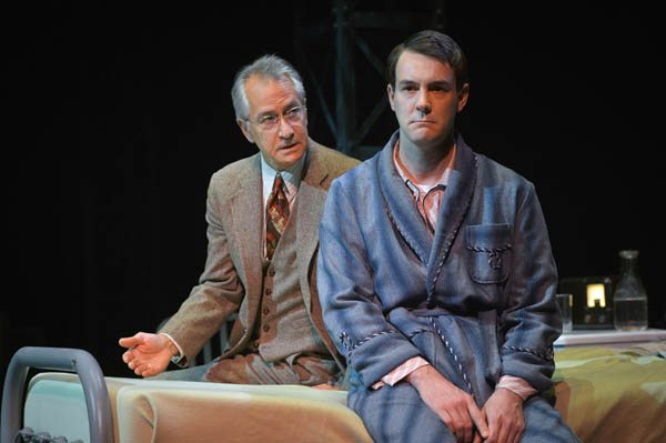 "David Strathairn, left,  and Dan Clegg appear in American Conservatory Theater's premiere of ""Chester Bailey."" (Courtesy Kevin Berne)"