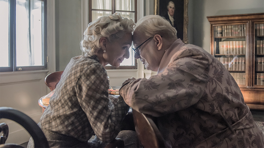 "Kristin Scott Thomas and Gary Oldman play Clementine and Winston Churchill in ""Darkest Hour."" (Courtesy Jack English/Focus Features)"