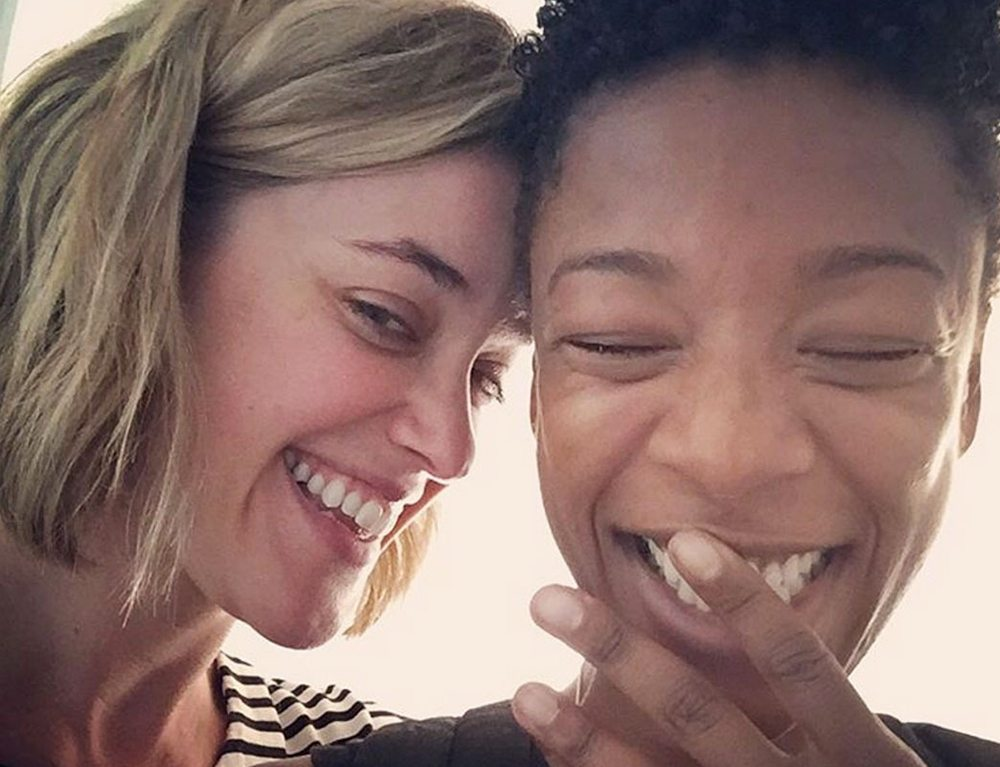 Orange Is the New Black writer Lauren Morelli, left, and actress Samira Wiley announced their engagement online. (Courtesy Instagram)