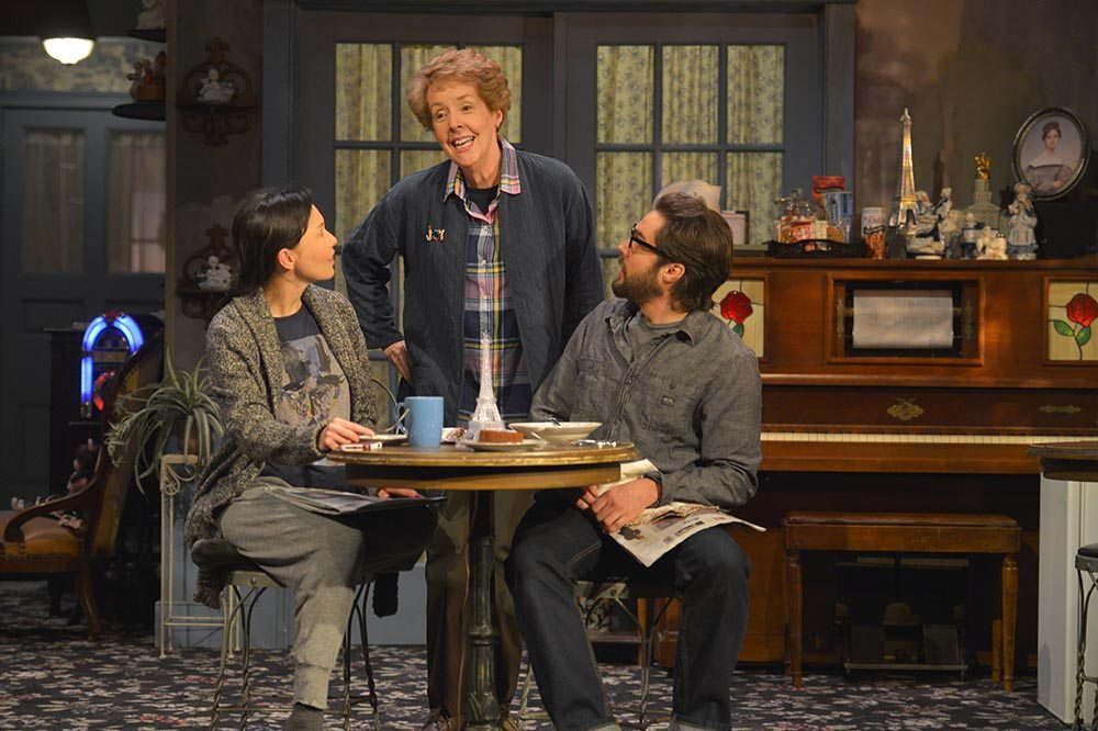"""From left, Stacey Yen,  Georgia Engel and Joe Paulik star in American Conservatory Theater's production of """"John."""" (Courtesy Kevin Berne)"""