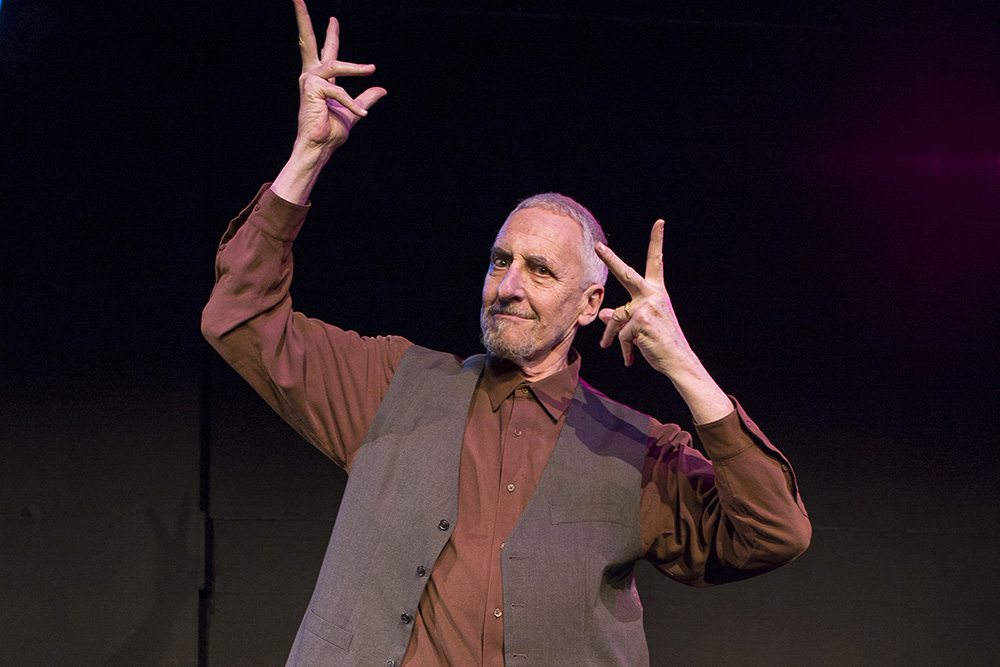 """Corey Fischer's solo show """"Lightning in the Brain"""" is onstage at The Marsh. (Courtesy Ken Friedman)"""