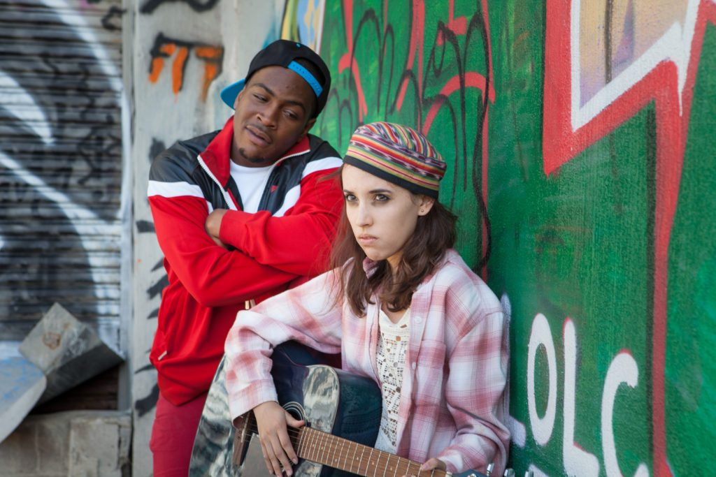 """Julian Green and Jessica Waldman appear in """"Low Hanging Fruit."""" (Courtesy Mario Parnell Photography)"""