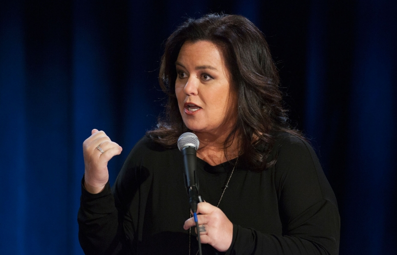Rosie O'Donnell (pictured in a 2015 HBO special) stirred up controversy in a tweet by offering senators money  to vote her way. (Courtesy HBO)
