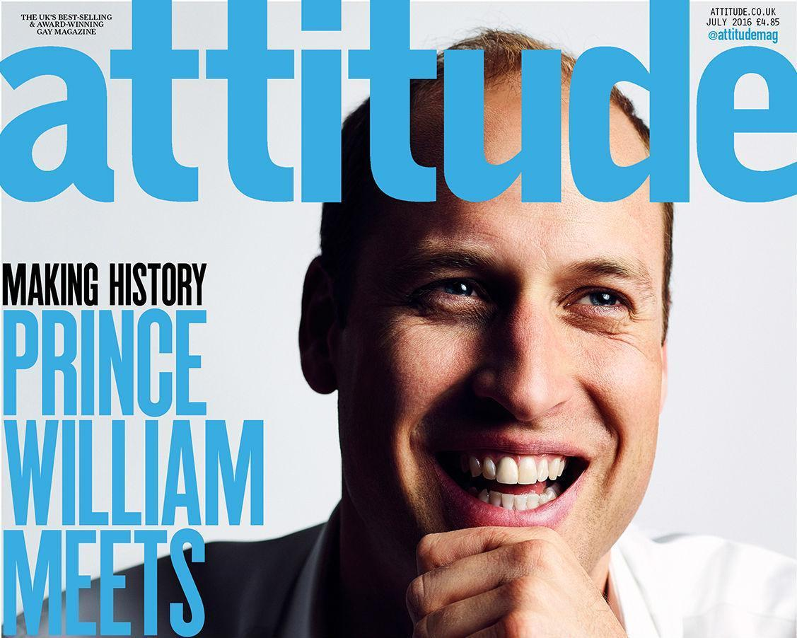 Prince William is the first British royal to appear on the cover of a gay magazine.