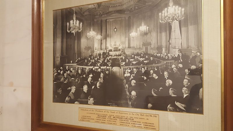 Inside the Board of Supervisors chambers, circa 1916. (Courtesy photo)