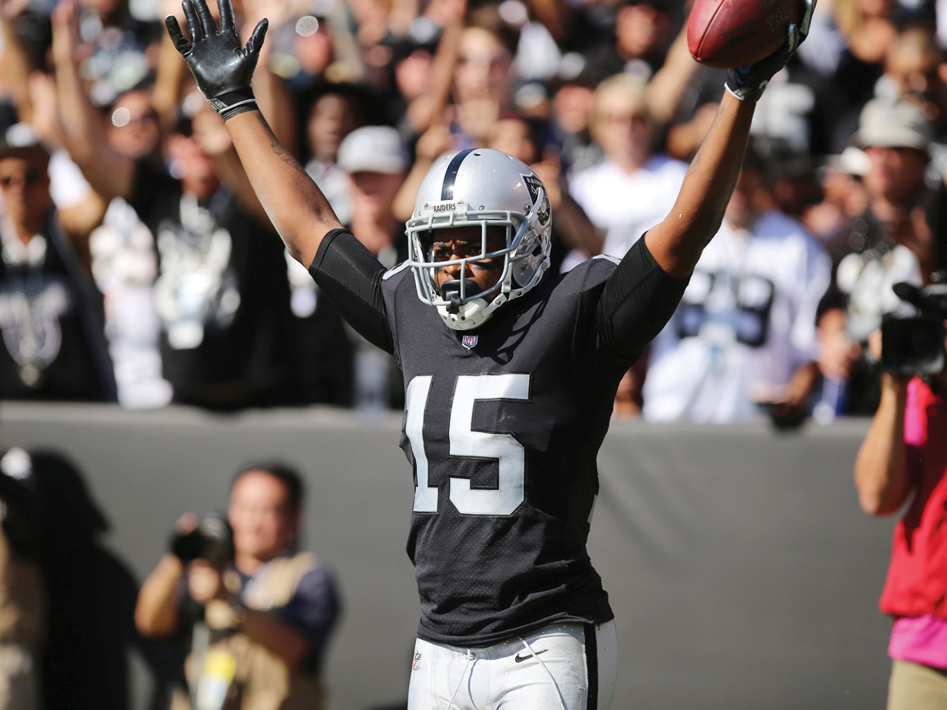 Michael Crabtree will only miss one more game after the NFL accepted his appeal on Tuesday. (Mira Laing/Special to S.F. Examiner)