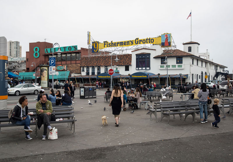 San Francisco's popular Fisherman's Wharf, a noted tourist attraction, is also a favorite hangout for locals. (Daniel Kim/Special to S.F. Examiner)