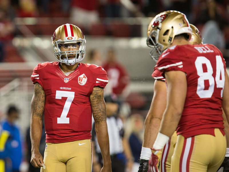 Colin Kaepernick and the San Francisco 49ers fell to the Tampa Bay Buccaneers 34-17 at Levi's Stadium in Santa Clara on Sunday. (Stan Olszewski/Special to S.F. Examiner)