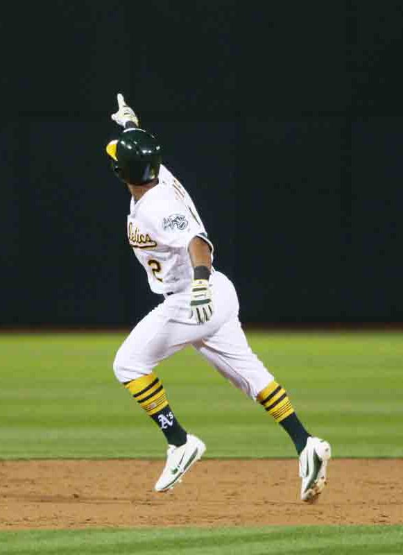 Khris Davis should return by Thursday from a groin strain. (Emma Marie Chiang/Special to the S.F. Examiner)