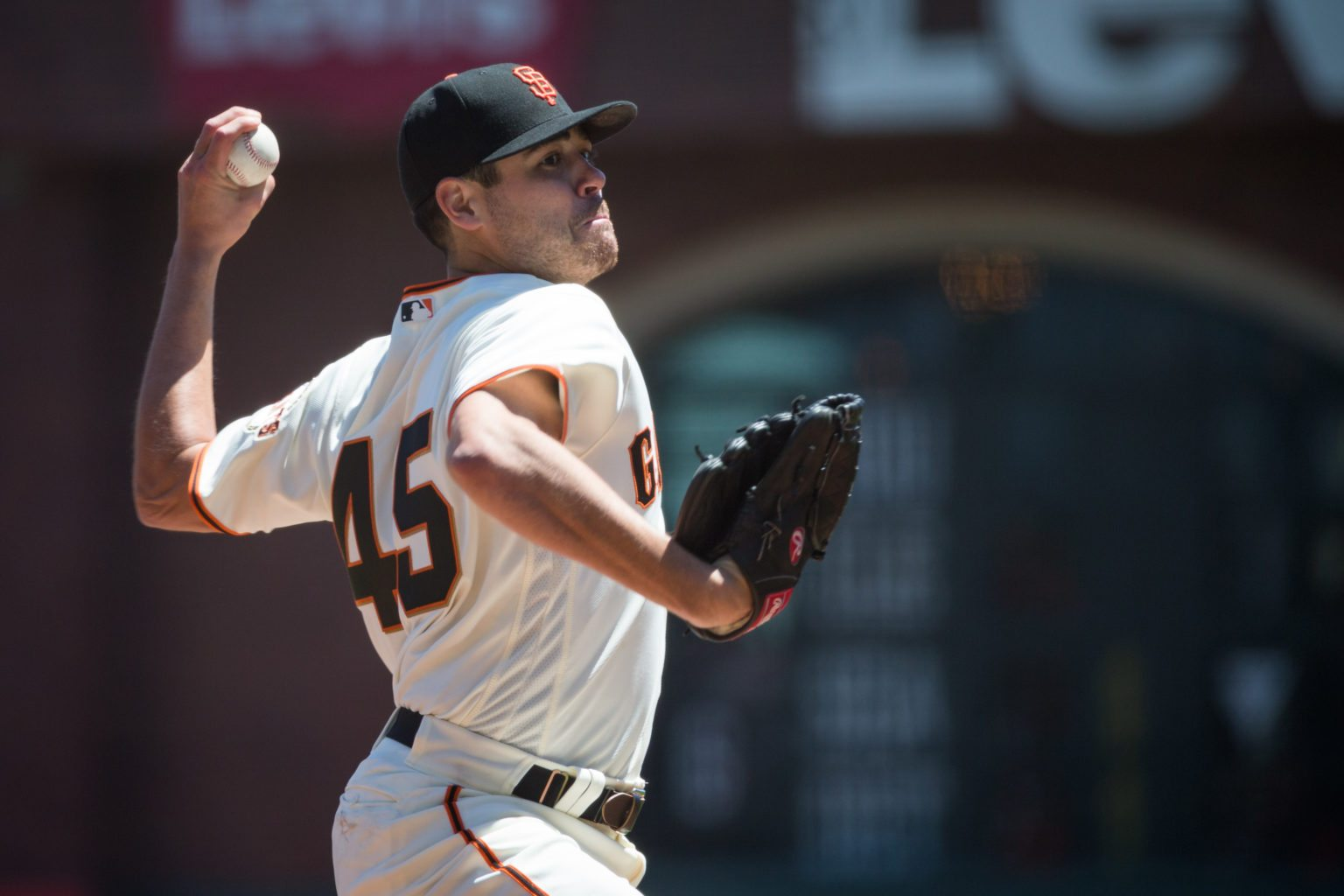 Matt Moore didn't enjoy much success against the A's on Wednesday night. (Stan Olszewski/Special to S.F. Examiner)