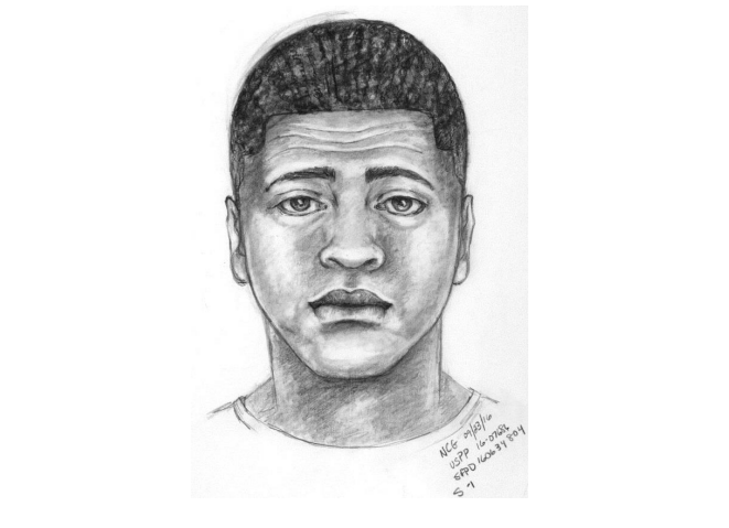 A sketch of the man suspected of fatally shooting a 20-year-old man as he played Pokemon Go in San Francisco in 2016. (Courtesy image)