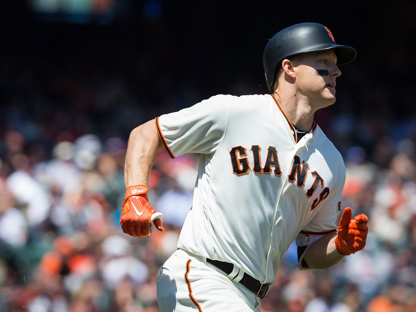 Nick Hundley notched four hits, including a home run, and three RBI in the Giants' 9-4 win over the San Diego Padres (Stan Olszewski/Special to S.F. Examiner)
