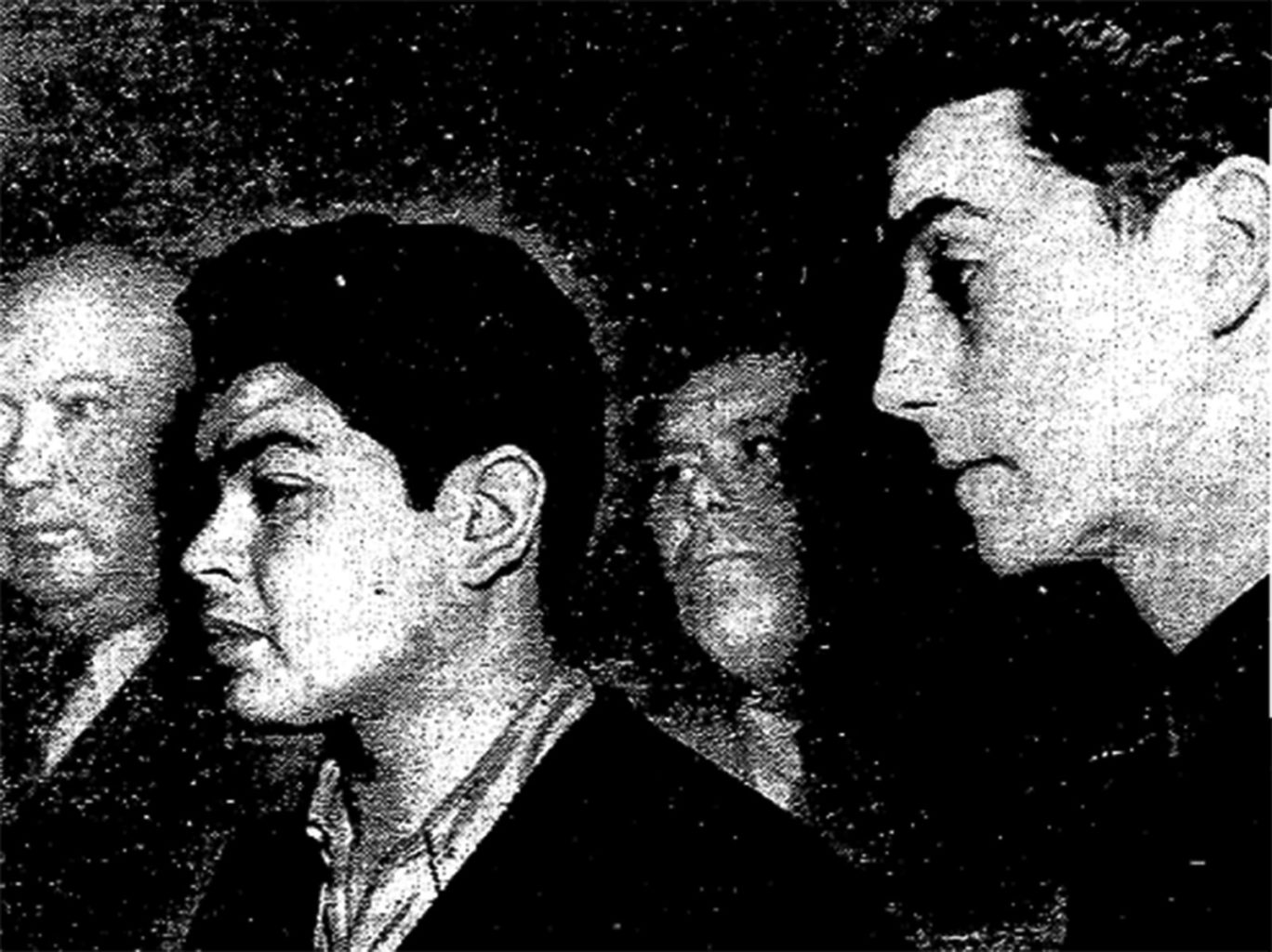 """Frank Crone, center, Ernest Pla, right, and William Daly, not pictured, were dubbed the """"Baby Bandits"""" for their brash-yet-sophisticated crimes. (Courtesy photo)"""