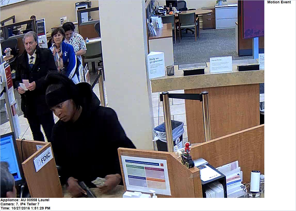 """The suspect, who has been dubbed the """"Headband Bandit,"""" robbed the Wells Fargo at 3134 California St. last Thursday afternoon. (Courtesy FBI)"""