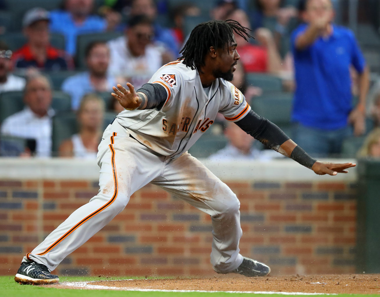 San Francisco Giants' Alen Hanson, seen here on May 5, started in place of Brandon Crawford for the second straight game on Wednesday. (Curtis Compton/Atlanta Journal-Constitution/TNS)