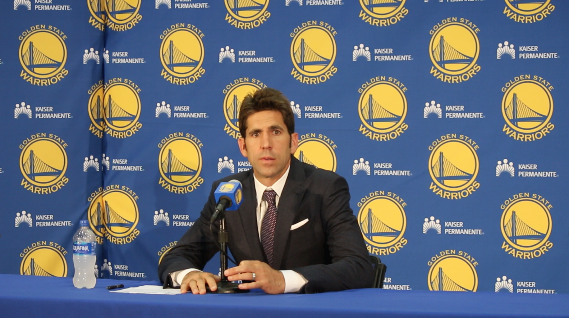 Bob Myers gets his work done during the summer, so the trade deadline is largely uneventful for the Golden State Warriors. (Jacob C. Palmer/S.F. Examiner)