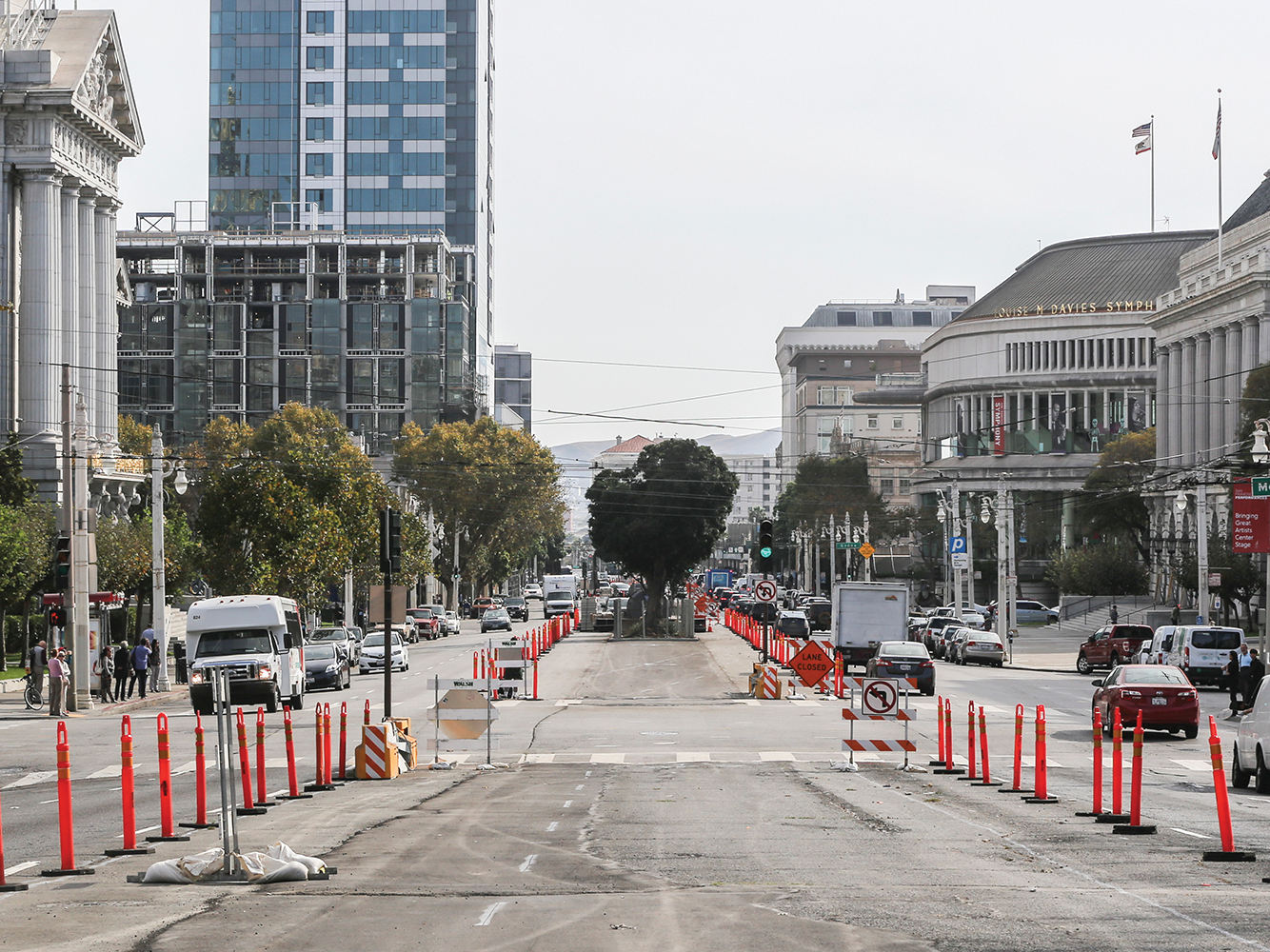 The SFMTA said it's exploring new options to speed up the Van Ness Bus Rapid Transit project's two-year delay. (Mira Laing/Special to S.F. Examiner)