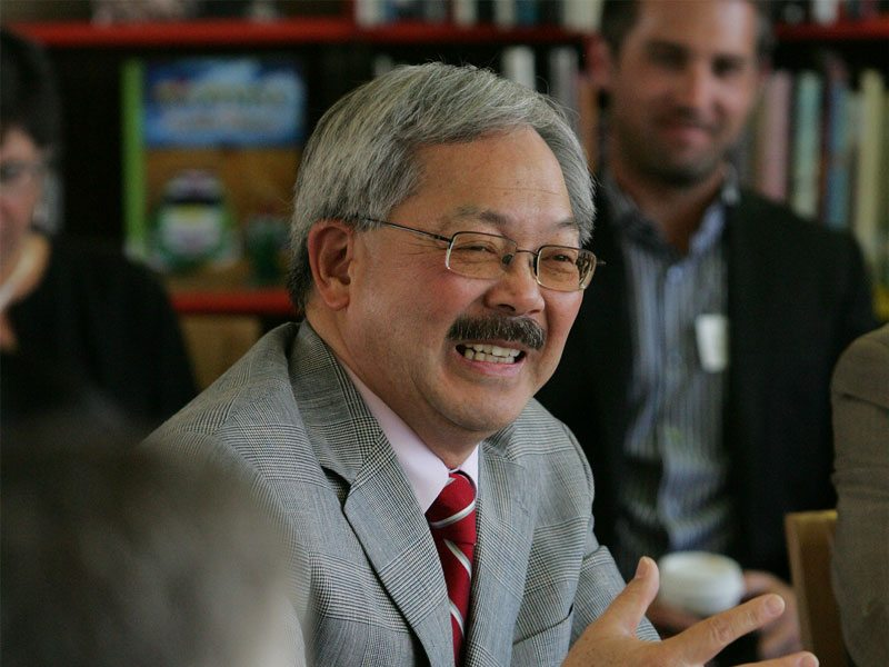 Ed Lee, San Francisco's mustachioed mayor, subtly dodged questions about rumors of being tapped to lead presidential hopeful Hillary Clinton's Housing and Urban Development department or to serve as education secretary. (Mike Koomin/2013 S.F. Examiner)