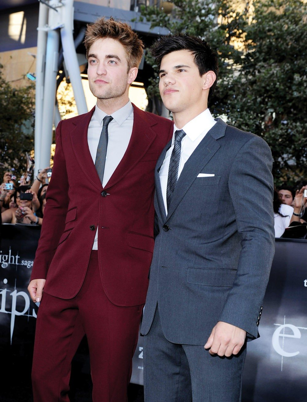 "Rather ripped: Robert Pattinson said that love scenes in the ""Twilight"" movies make him self-conscious"