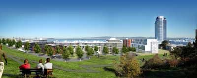 Lennar Corp./APThis artist's rendering shows the proposed redeveloped Hilltop Park in the Bayview-Hunters Point area of San Francisco.