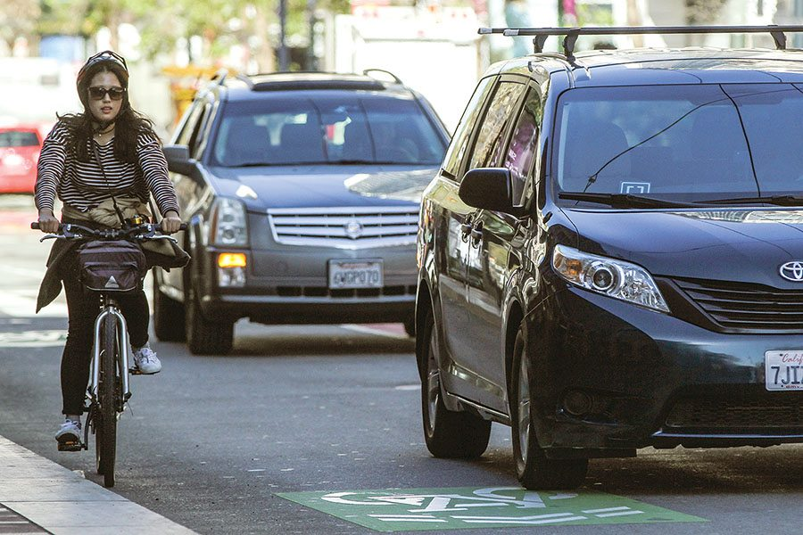 Supervisor Aaron Peskin wants the SFCTA to draft a letter to Uber and other ride-hails asking them to work with The City on safety. (Jessica Christian/S.F. Examiner)