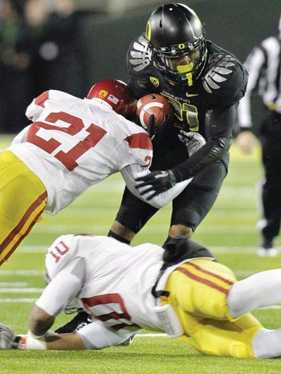 Don Ryan/APKnocked down: Oregon appeared to be in line for a shot at the BCS title game until it was upset by USC on Saturday.