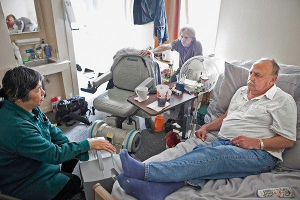 Joseph Schell/Special to the s.f. examinerMaking final plans: Hospice by the Bay nurse Linda Laureano