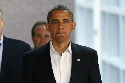 LARRY DOWNING/ReutersPresident Obama came to San Francisco immediately following his visit to Aurora