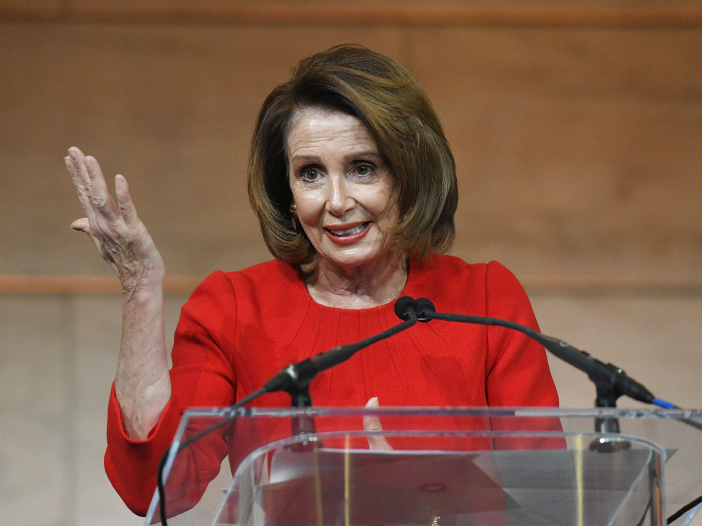 House Minority Leader Nancy Pelosi speaks during an event at the National Museum of American History on March 7 in Washington, D.C. (Olivier Douliery/Abaca Press/TNS)