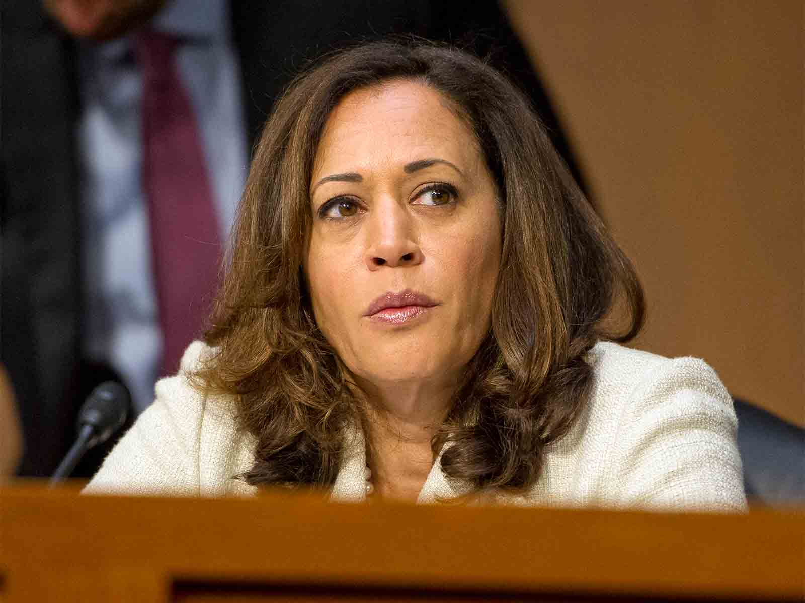 U.S. Senator Kamala Harris questions nominees for security positions in various government agencies before the U.S. Senate Select Committee on Intelligence on Capitol Hill in Washington, D.C. on July 19, 2017. (Ron Sachs/CNP/Sipa USA/TNS)