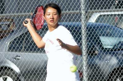 Victoria Sun and the rest of the Aragon girls' tennis team will look to go deeper into the CCS playoffs after last year's second-round exit. (Joseph Schell/Special to The Examiner)Victoria Sun and the rest of the Aragon girls' tennis team will look to go deeper into the CCS playoffs after last year's second-round exit. (Joseph Schell/Special to The Examiner)