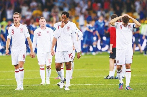 Alex Livesey/Getty ImagesWoe is us: England doesn't deal well with failure. After losing the Euro Cup quarterfinal soccer match against Italy