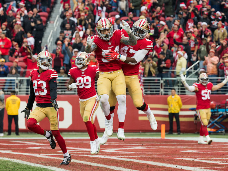 Cassius Marsh played in every game since the 49ers picked him up during the 2017 season. (Stan Olszewski/Special to S.F. Examiner)