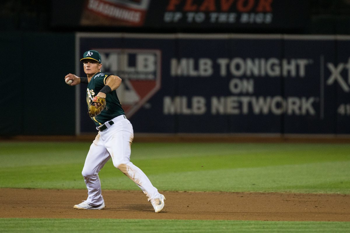 Matt Chapman, seen here in August of 2017, is the best defender in the American League. (Stan Olszewski/Special to S.F. Examiner)