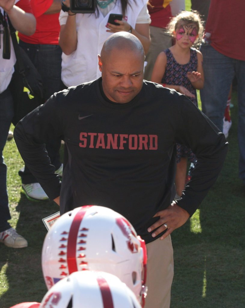 Will David Shaw be able to exceed expectations this year as Stanford guns for a Pac-12 West title? (Courtesy Michael Li/Flickr)