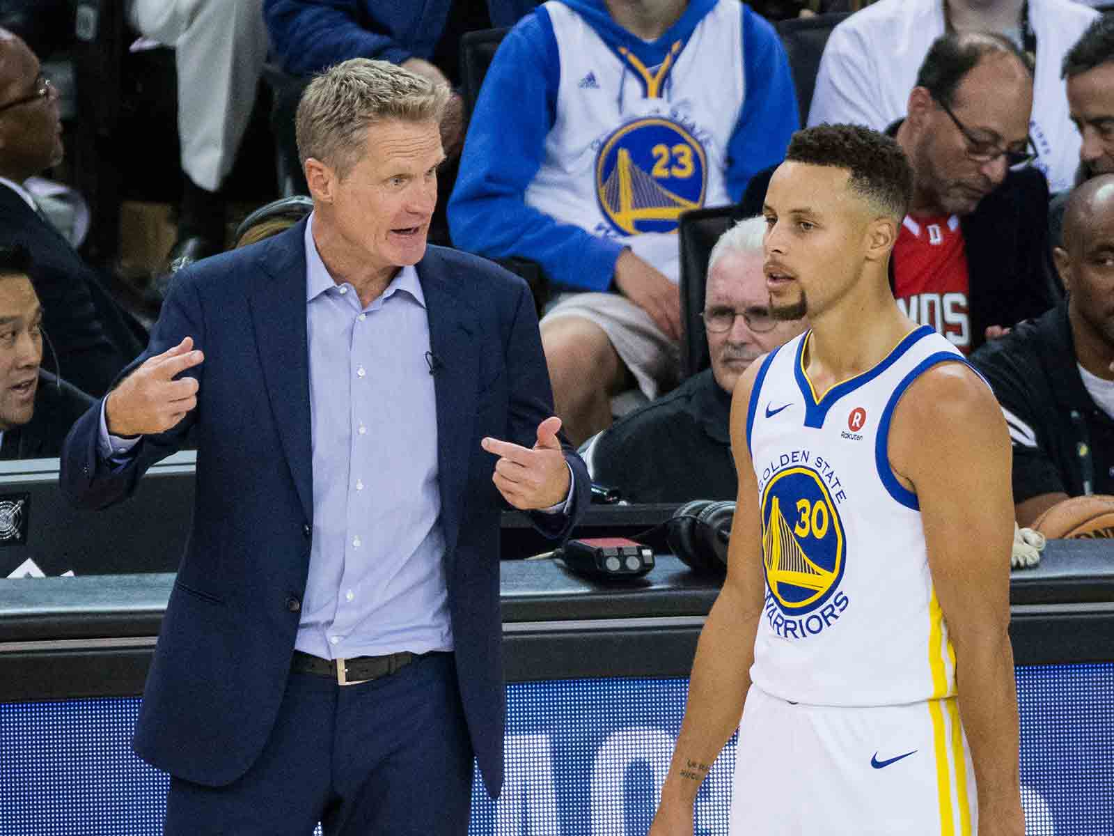 If there's anyone who can unseat Michael Jordan's Chicago Bulls as the Greatest Of All Time, it Jordan's former teammate, Steve Kerr, and his Golden State Warriors, led by two-time MVP Steph Curry. (Stan Olszewski/Special to S.F. Examiner)
