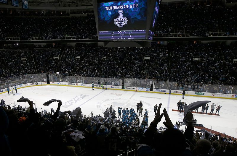 San Jose Sharks fans love their team in the postseason. In Pittsburgh, hockey is religion. (Marcio Jose Sanchez/AP)