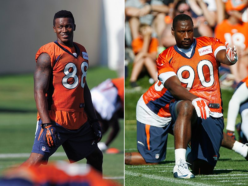 Demaryius Thomas and Antonio Smith have had to overcome personal obstacles to get to the Super Bowl 50. (AP)