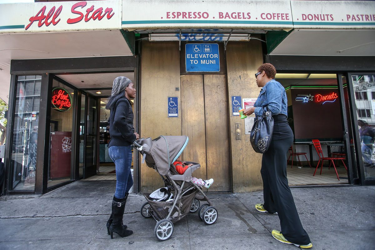 The SFMTA may finally have a plan in place to fix the often-broken Muni elevators. (Mike Koozmin/S.F. Examiner)