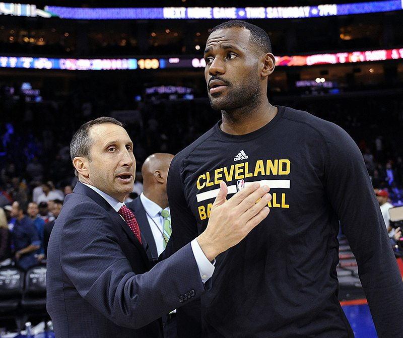 LeBron James denied he was the reason Cleveland Cavaliers head coach David Blatt was fired. (Michael Perez/AP file)